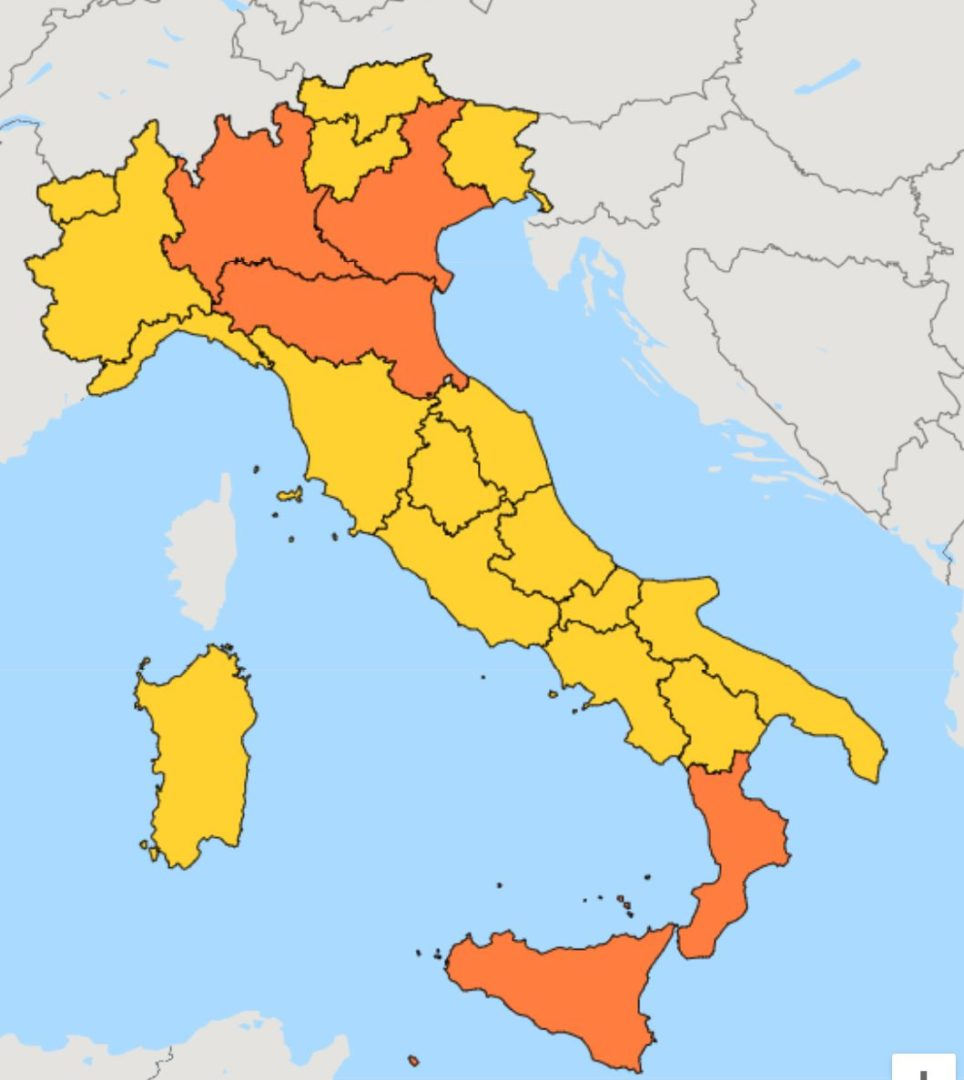 Regione Friuli Venezia Giulia Cartina.Friuli Venezia Giulia In Zona Gialla Dall 11 Al 15 Gennaio 2021 Udine 20