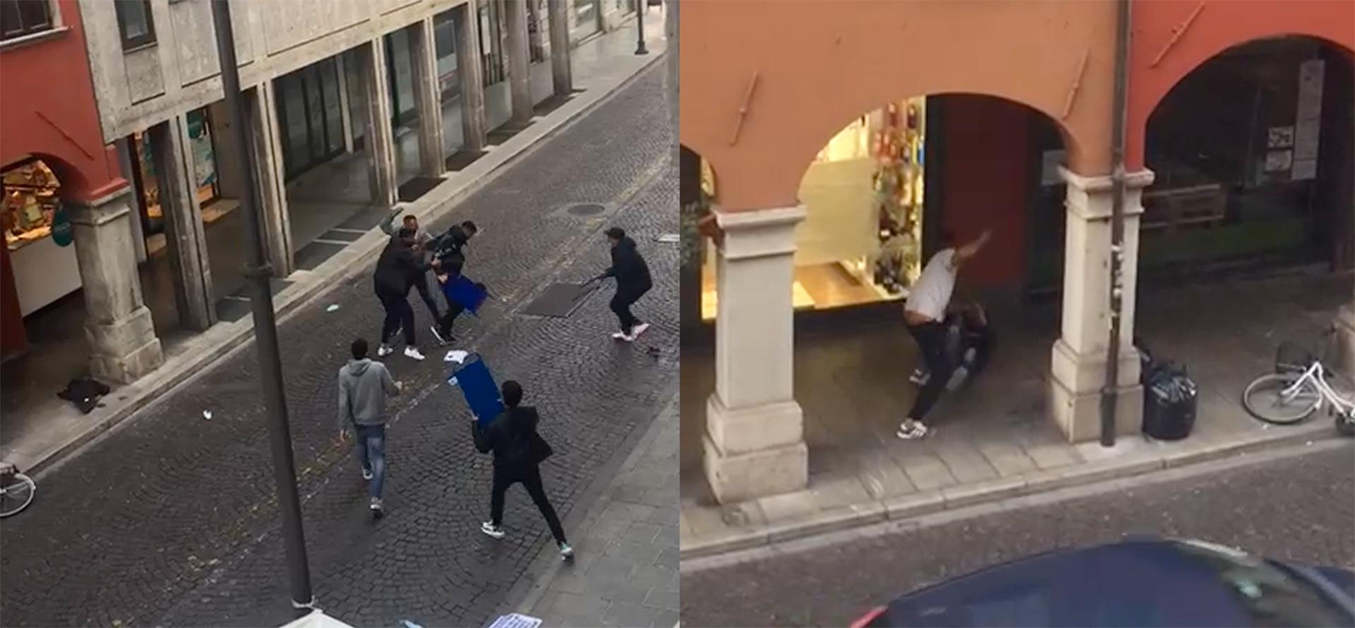 Paura in centro a Udine, gruppetto si prende a calci e pugni. VIDEO
