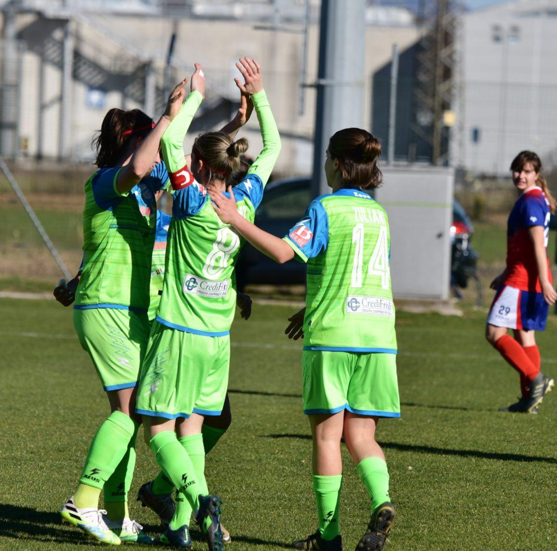 Calcio femminile: torna la vittoria in casa: 2 0 gialloblù all'Orobica.
