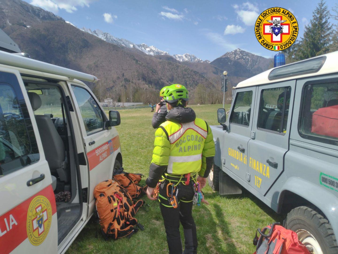 Scout precipita per 50 metri in Val Romana