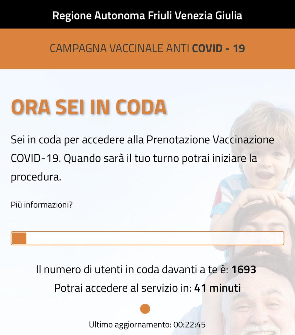 Vaccini: Fvg, tra 2,8 e 4,8% non si è sottoposto a richiamo