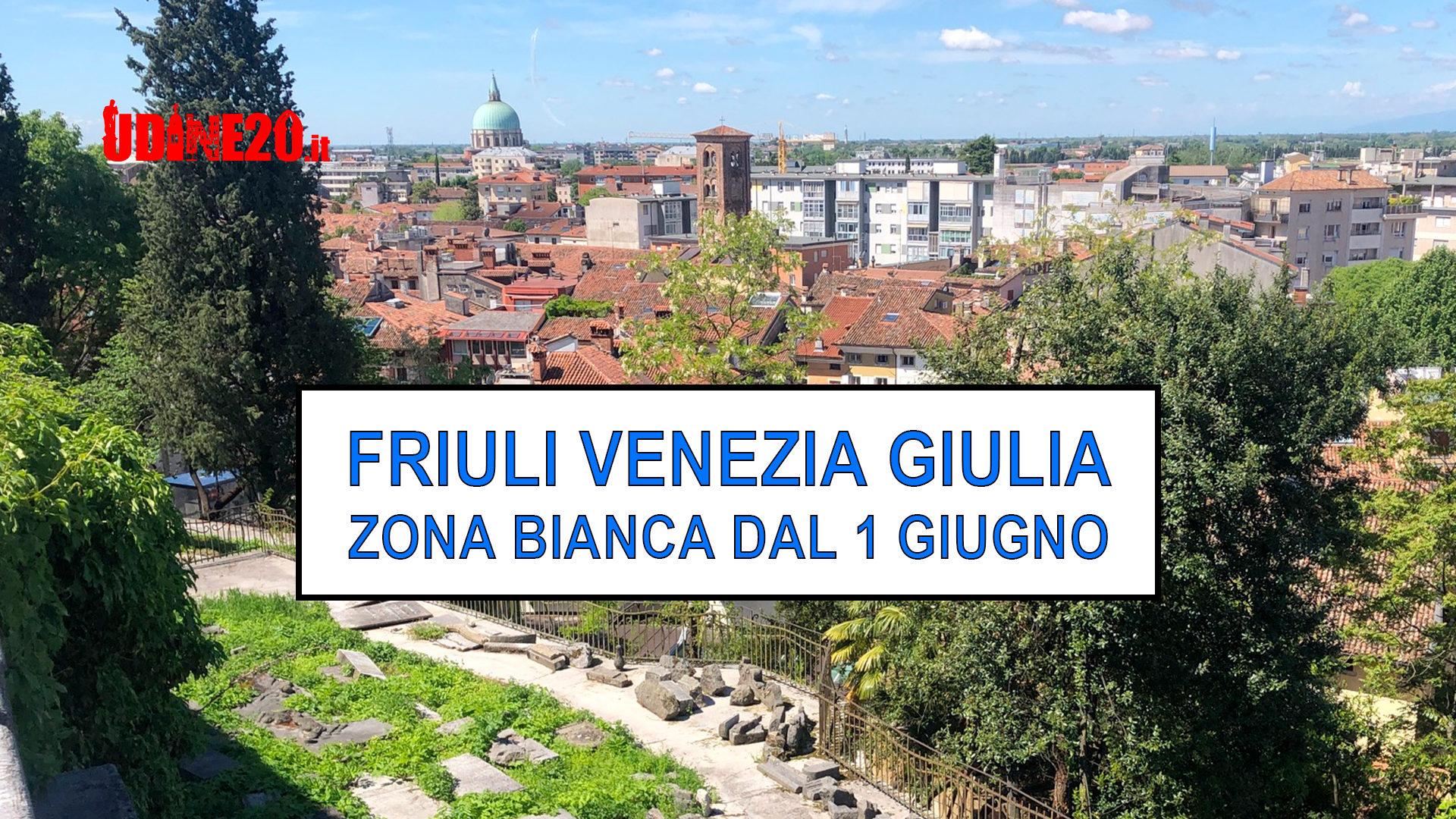 Zona Bianca in Friuli Venezia Giulia dal 1 giugno