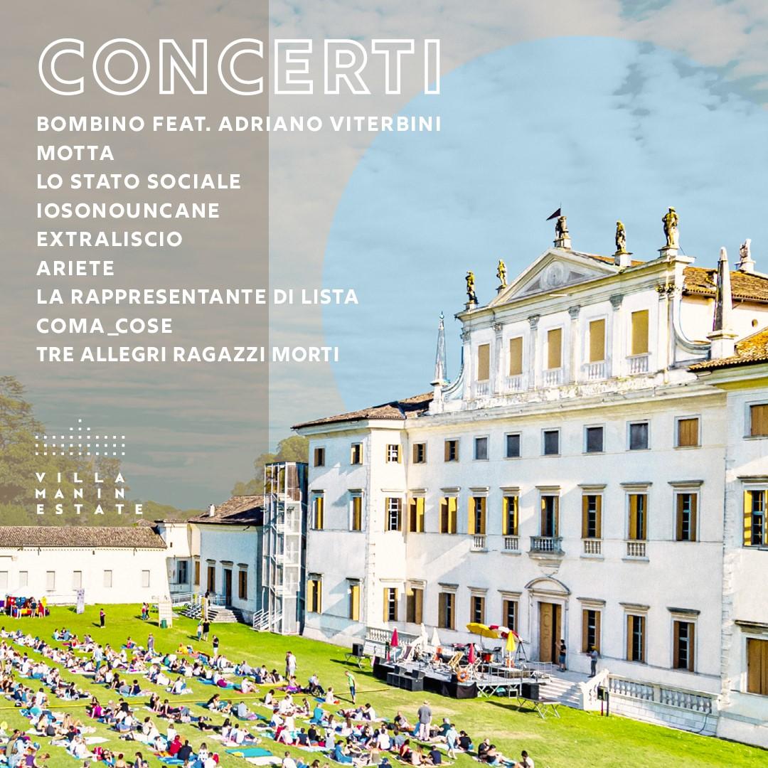 Villa Manin Estate 2021: concerti, spettacoli teatrali ed eventi per bambini, dal 25 giugno al 28 agosto
