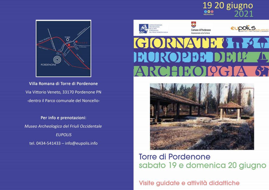 Torre di Pordenone, eventi per le Giornate Europee dell'Archeologia. 19 20 giugno 2021