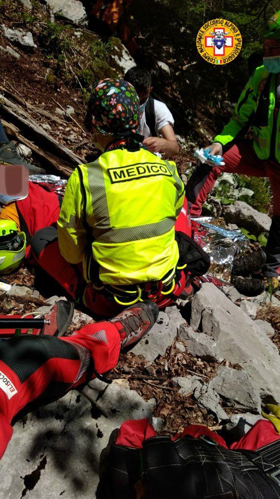 Soccorso e portato in ospedale il giovane caduto in Val Romana