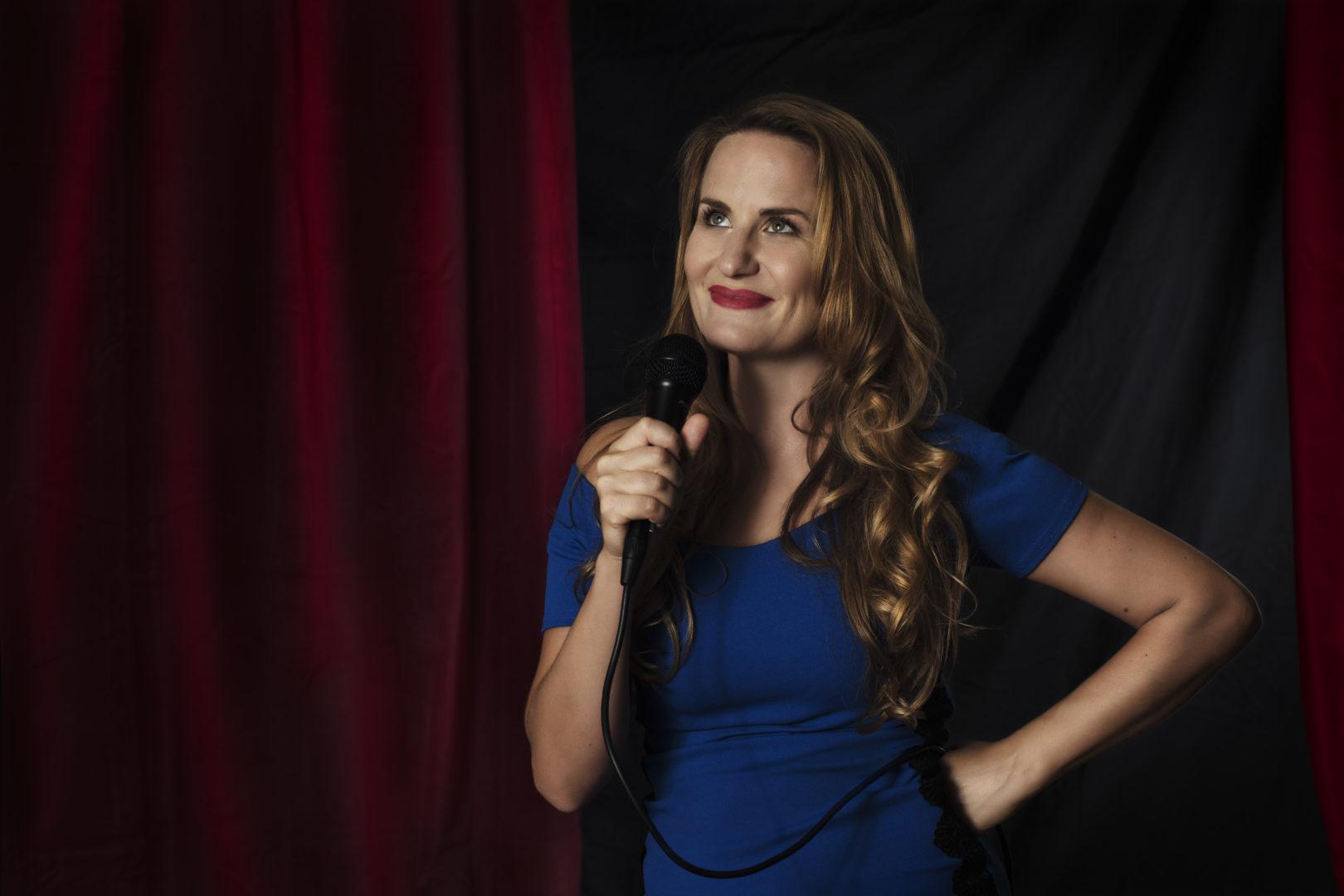 La comica Laura Formenti da Italia's Got Talent a Udine. 5 agosto 2021
