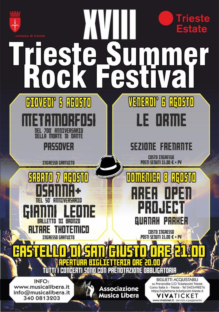 Trieste Rock Summer Festival. 5 8 agosto 2021