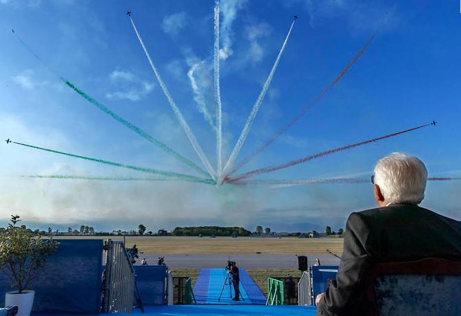 Anche Mattarella alla festa delle Frecce Tricolori